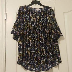 Floral Bell Sleeve Shirt